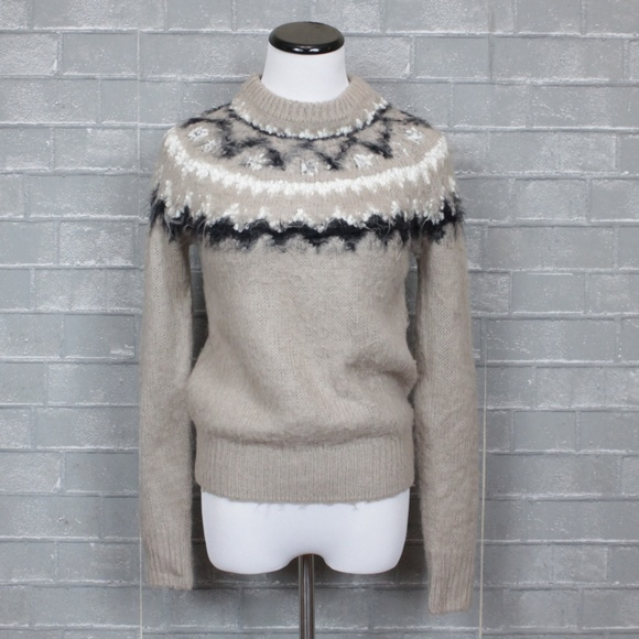 Urban Outfitters BDG Fuzzy Knit Fair Isle Sweater